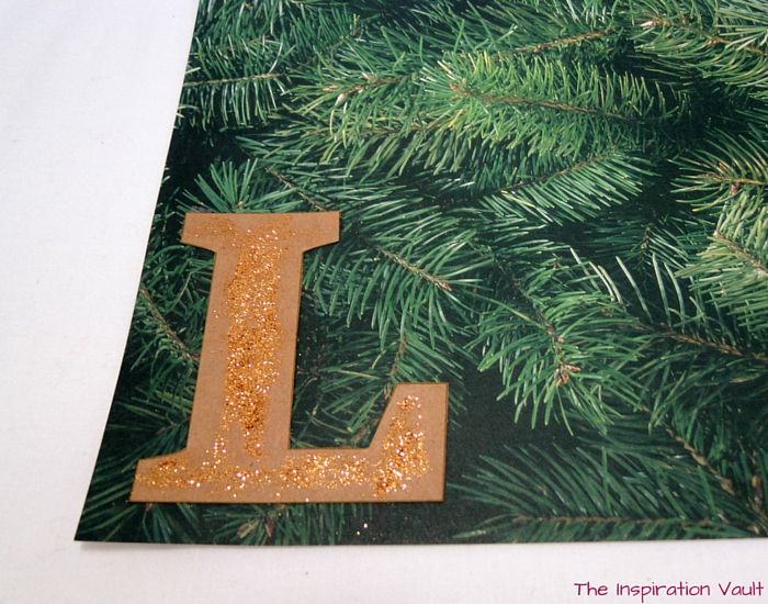 Glittered Rustic Banner Step 10