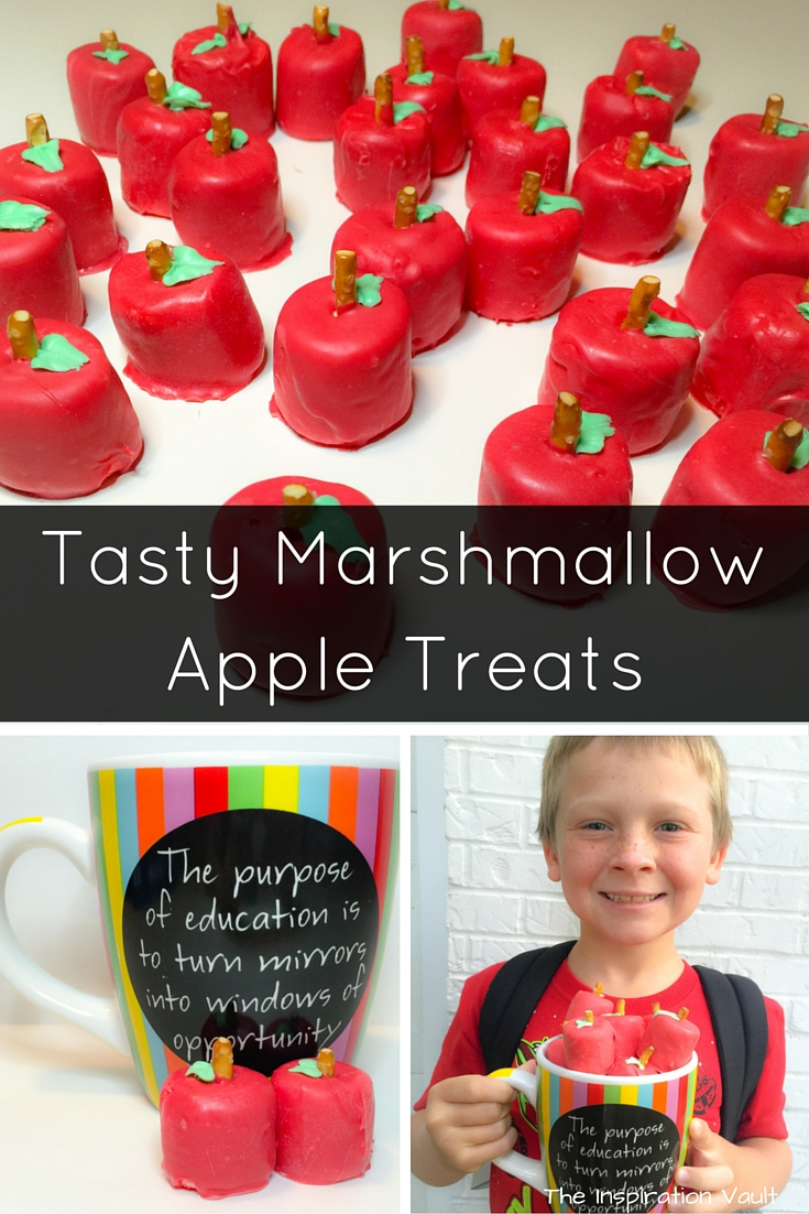 Tasty Marshmallow Apple Treats Craft Tutorial Teacher Appreciation Gift Back to School