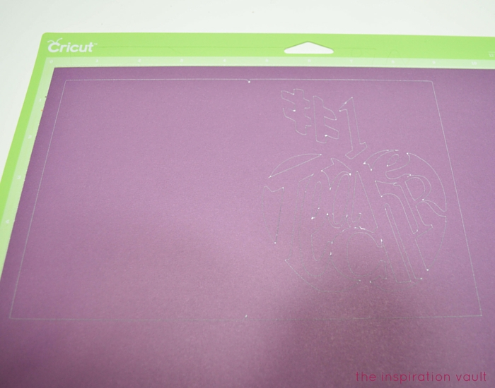 #1 Teacher Cricut Card Step 1
