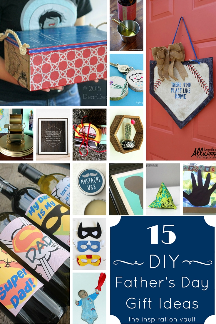 15 DIY Father's Day Gift Ideas Craft Roundup