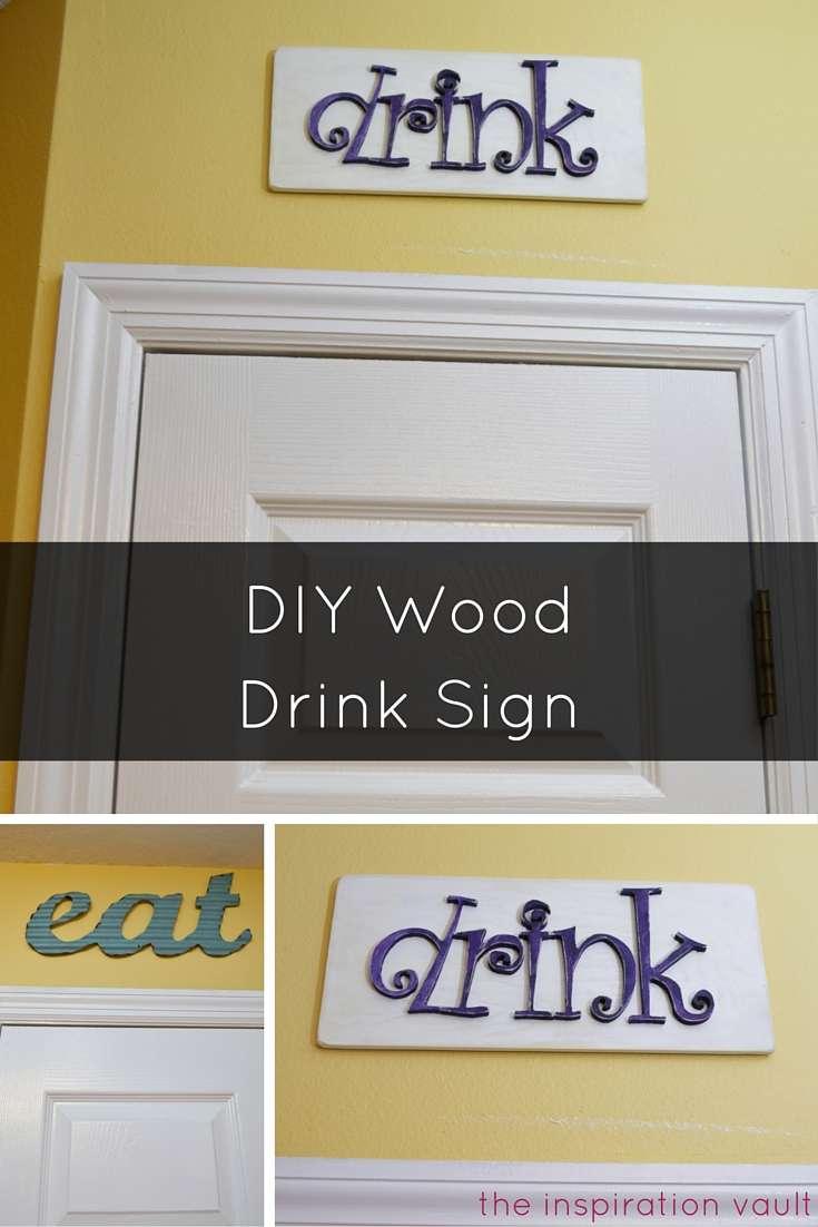 DIY Wood Drink Sign Craft Tutorial