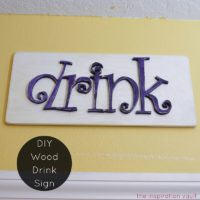 DIY Wood Drink Sign Feature