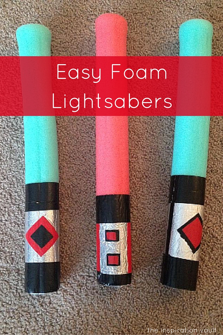 Easy Foam Lightsabers Craft Tutorial Star Wars Party