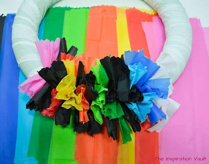 Fiesta Serape Wreath Step 11a