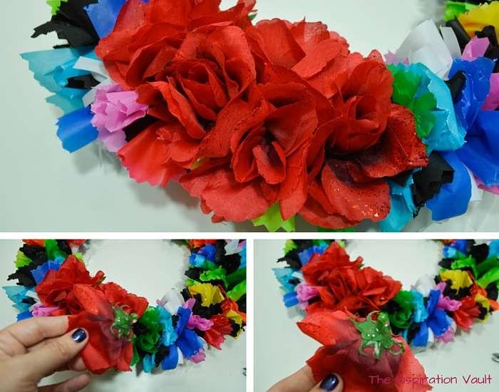 Fiesta Serape Wreath Step 12