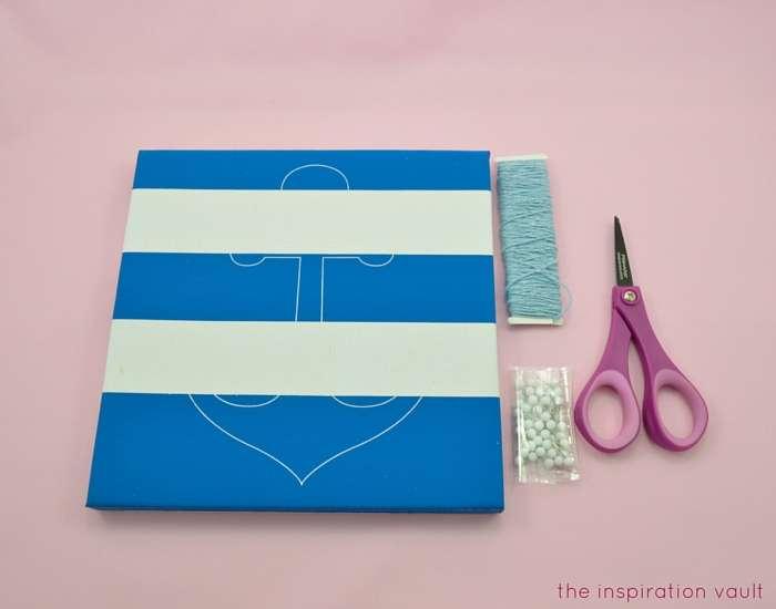Nautical String Art Kit Materials