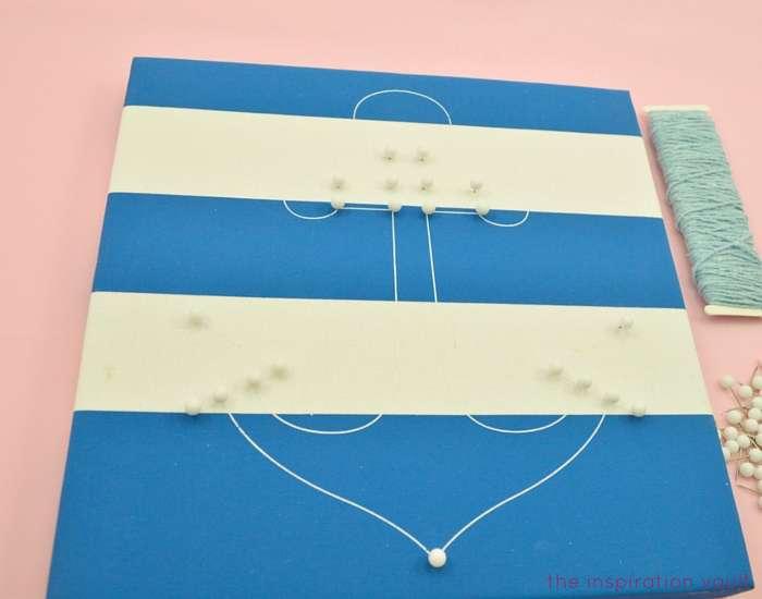 Nautical String Art Kit Step 1a