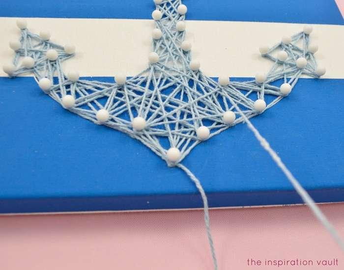 Nautical String Art Kit Step 3