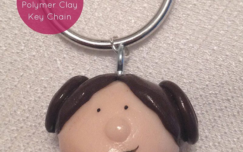 Princess Leia Polymer Clay Key Chain Feature