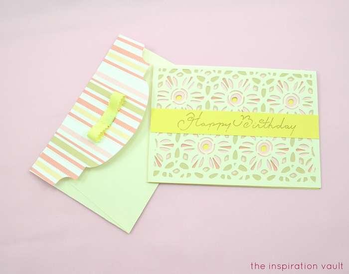 Lovely Daisy Cricut Birthday Card Complete