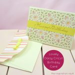 Lovely Daisy Cricut Birthday Card