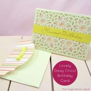 Lovely Daisy Cricut Birthday Card Feature