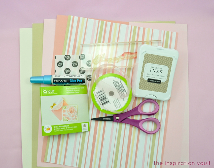 Lovely Daisy Cricut Birthday Card Materials