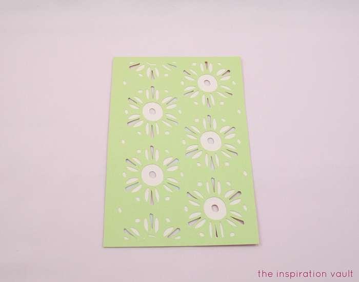 Lovely Daisy Cricut Birthday Card Step 10b