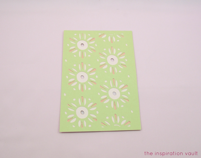 Lovely Daisy Cricut Birthday Card Step 11b