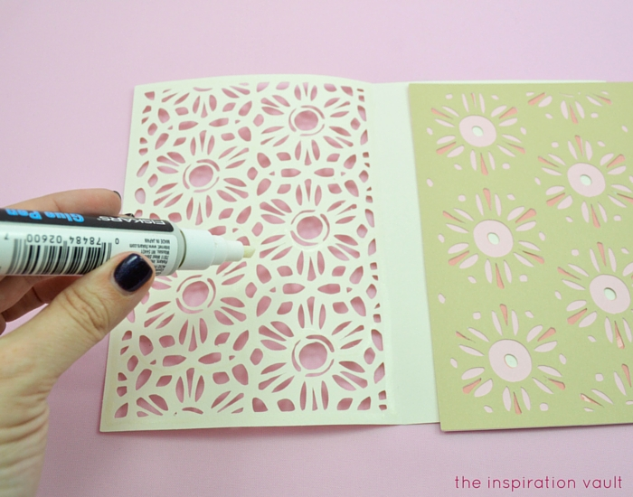 Lovely Daisy Cricut Birthday Card Step 13a