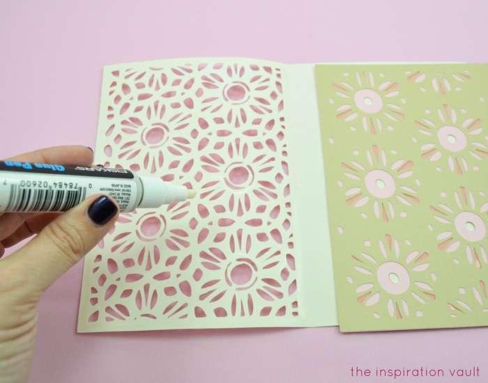Lovely Daisy Cricut Birthday Card Step 13a