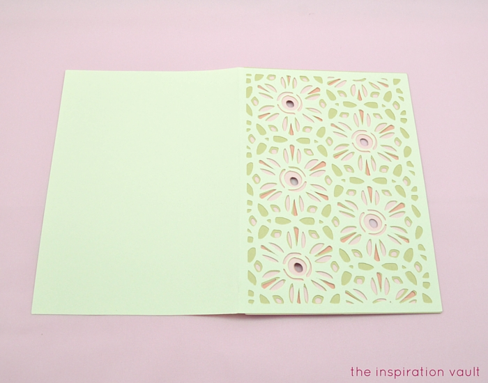 Lovely Daisy Cricut Birthday Card Step 13b