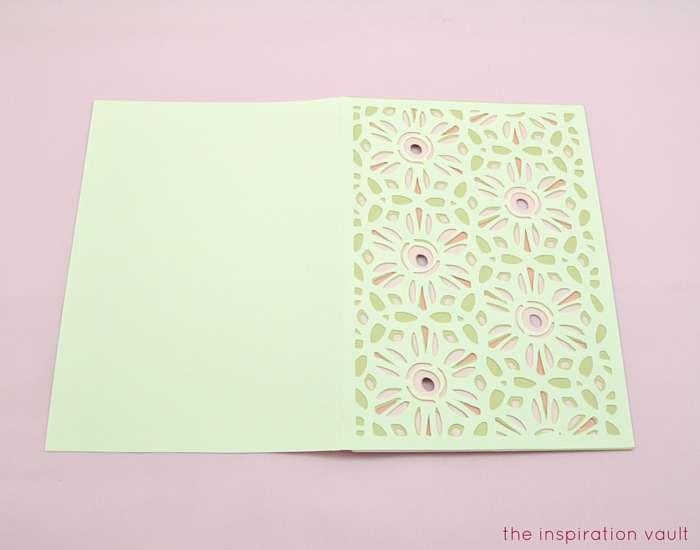 Lovely Daisy Cricut Birthday Card Step 13b