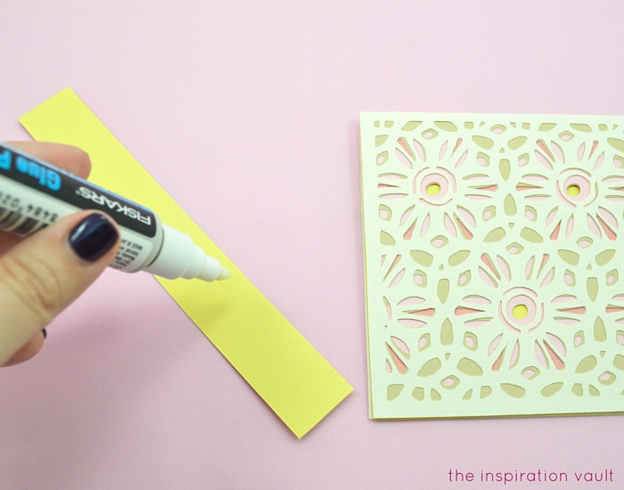 Lovely Daisy Cricut Birthday Card Step 15a