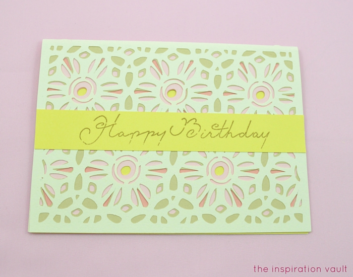 Lovely Daisy Cricut Birthday Card Step 15b