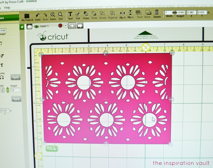 Lovely Daisy Cricut Birthday Card Step 2a