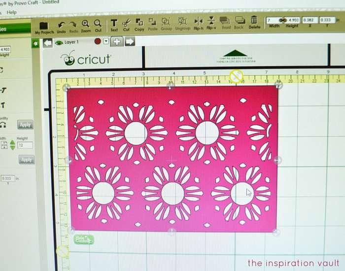 Lovely Daisy Cricut Birthday Card Step 2a