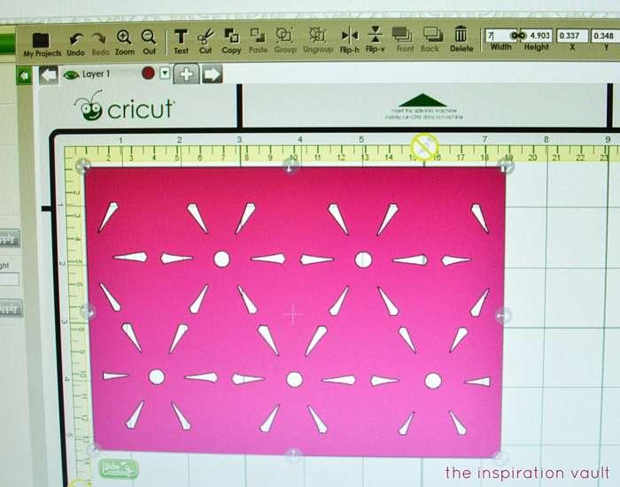 Lovely Daisy Cricut Birthday Card Step 3a