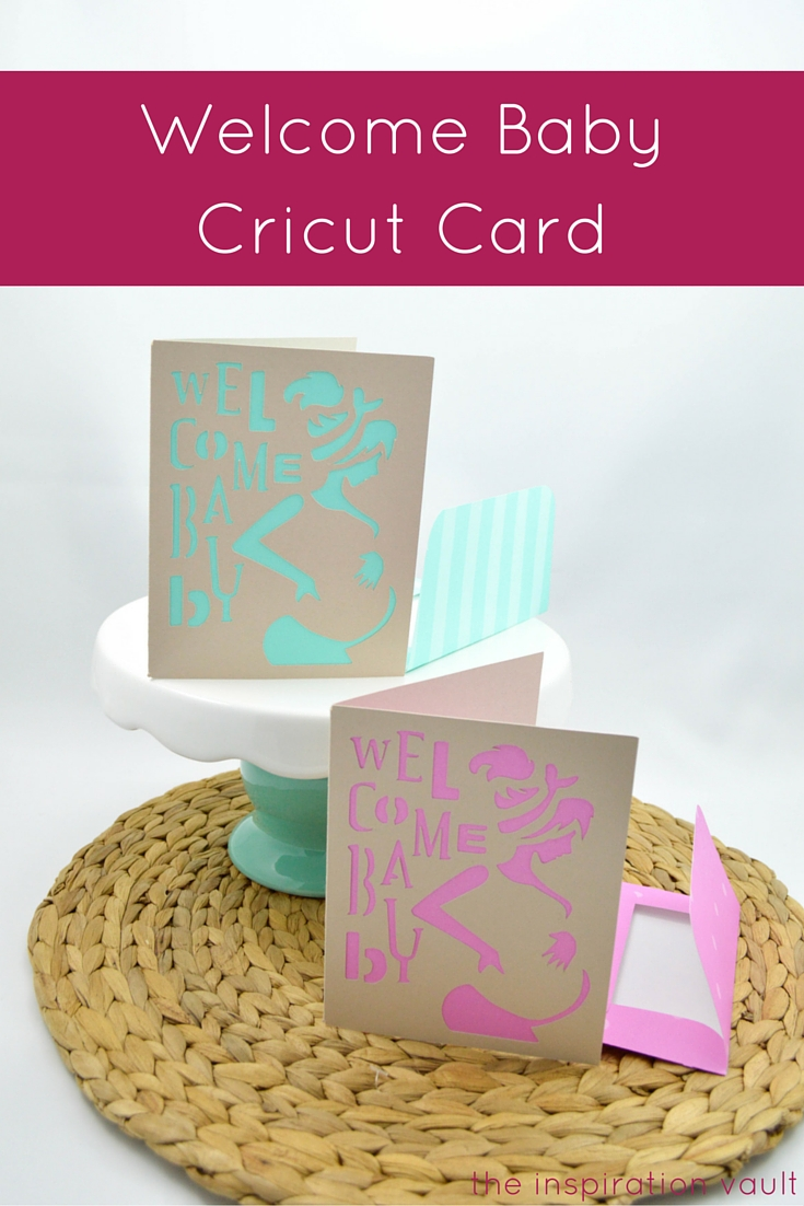 Welcome Baby Cricut Card Craft Tutorial Baby Shower Handmade Card