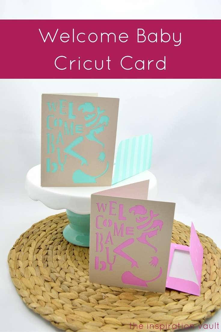 Welcome Baby Cricut Card Craft Tutorial Baby Shower Handmade Card