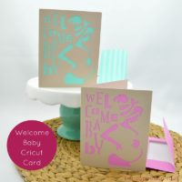 Welcome Baby Cricut Card Feature