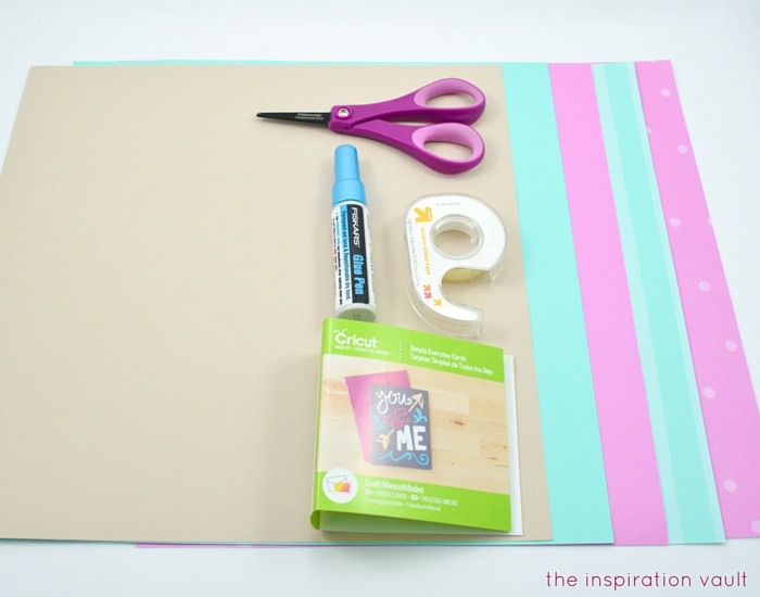 Welcome Baby Cricut Card Materials