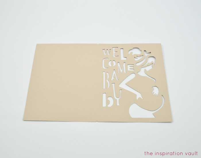 Welcome Baby Cricut Card Step 1b