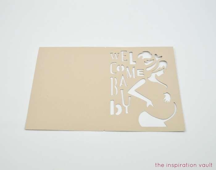 Welcome Baby Cricut Card Step 1b