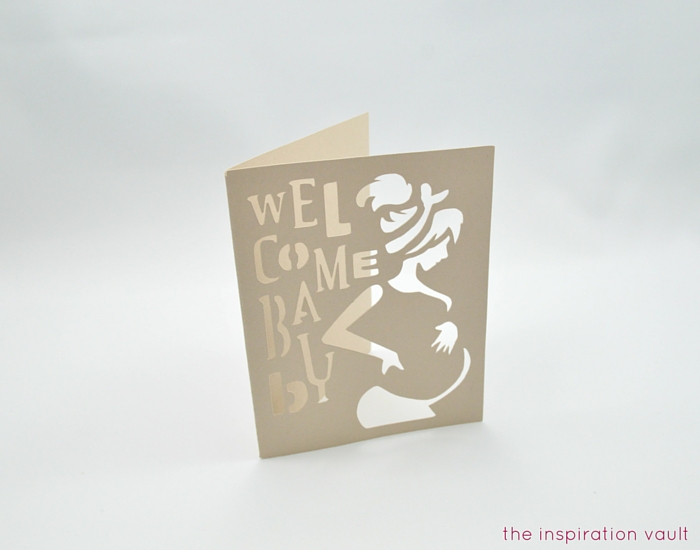 Welcome Baby Cricut Card Step 4