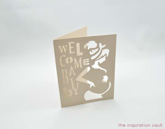 Welcome Baby Cricut Card Step 4