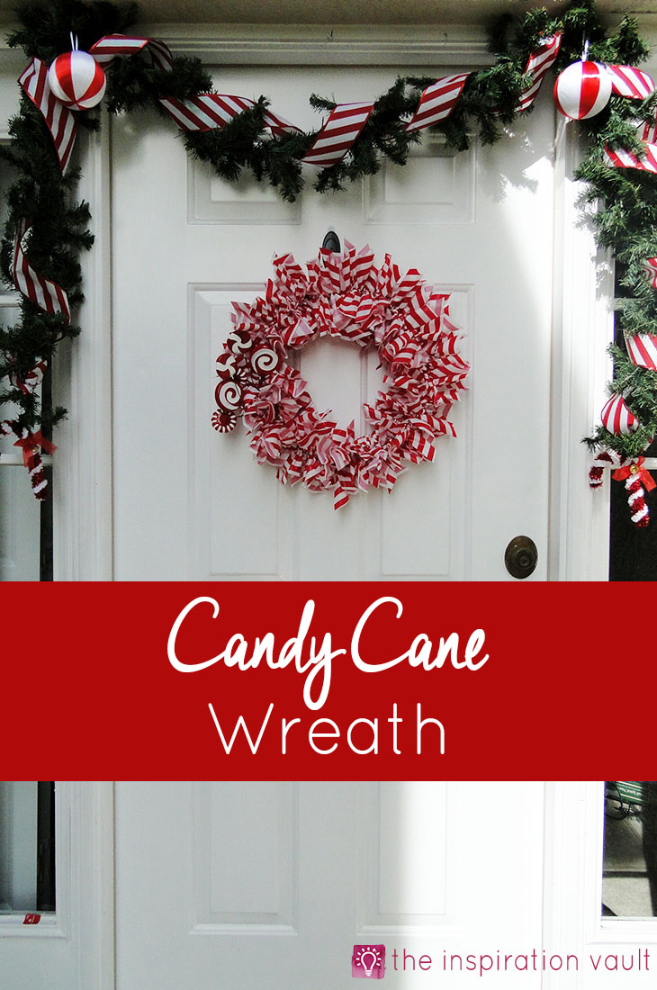 Candy Cane Wreath Christmas Craft Tutorial