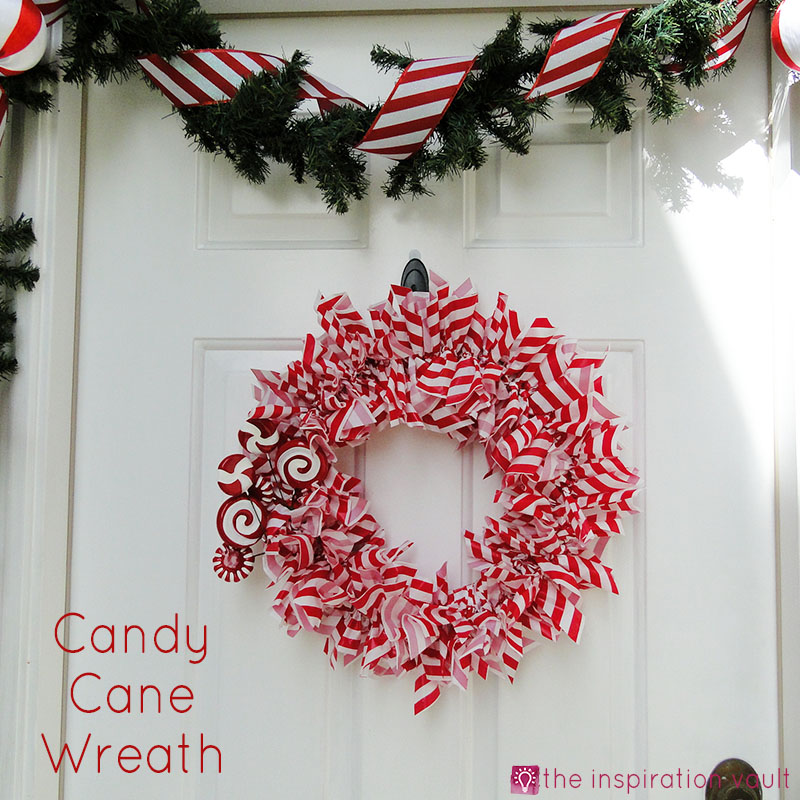 Candy Cane Wreath The Inspiration Vault