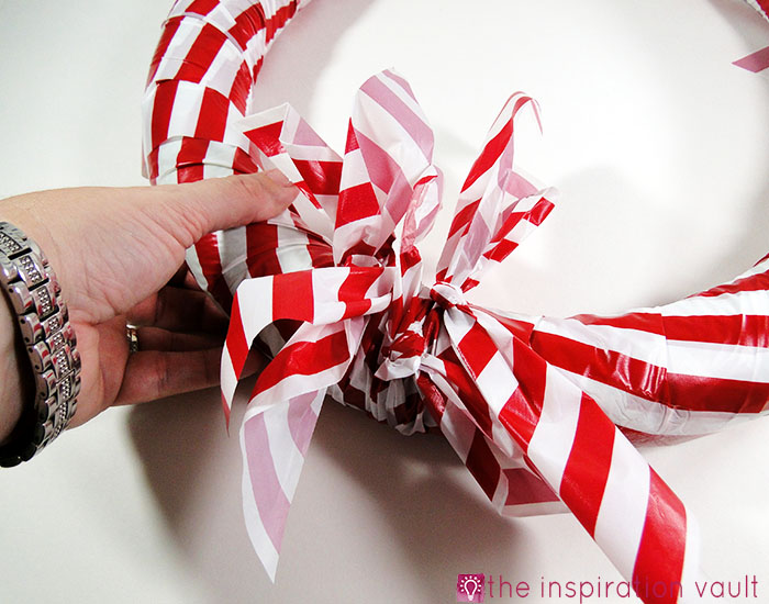 Candy Cane Wreath Step 11