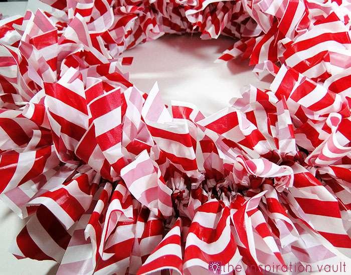 Candy Cane Wreath Step 12