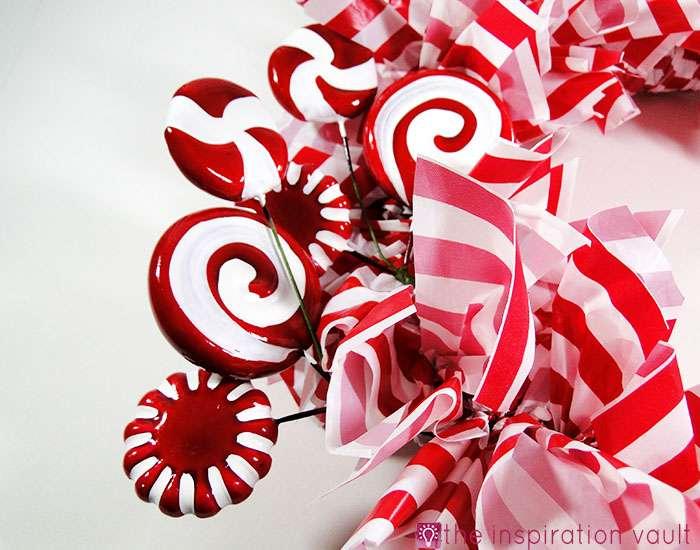 Candy Cane Wreath Step 13c