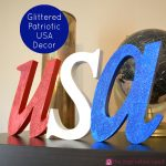 Glittered Patriotic USA Decor