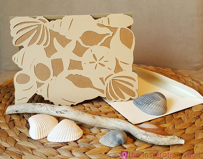 Seashell All Occasion Cricut Card Complete