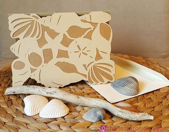 Seashell All Occasion Cricut Card Complete