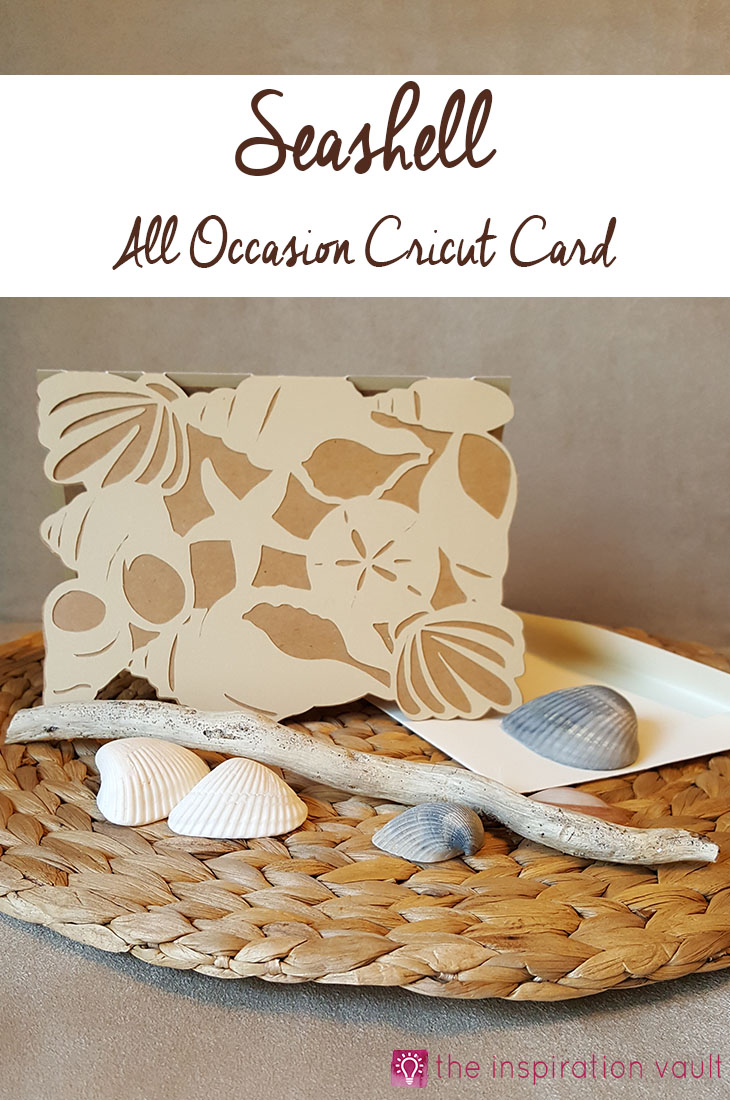 Seashell All Occasion Cricut Card Craft Tutorial Beach Theme Handmade Card