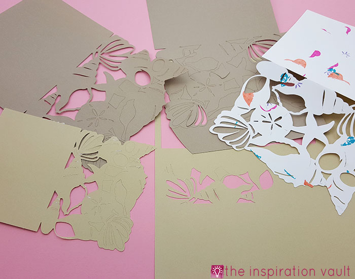 Seashell All Occasion Cricut Card Fails
