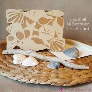 Seashell All Occasion Cricut Card Feature