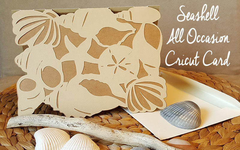 Seashell All Occasion Cricut Card Slider