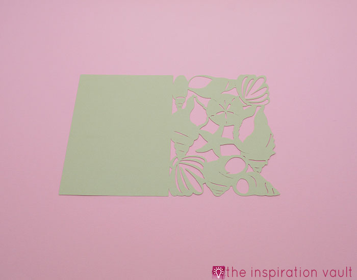 Seashell All Occasion Cricut Card Step 2