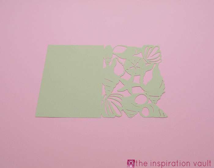 Seashell All Occasion Cricut Card Step 2